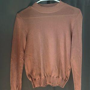 Sweaters - Mauve Mock neck sweater